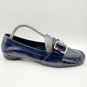 Nurture Navy Blue Patent Leather Loafers